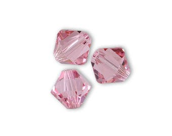 40 Swarovski 3mm pink Crystal Swarovski bicones