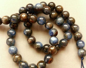 1 lot 4 KYANITE blue 8 mm round beads