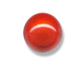 Magical red bead 5 round 14mm acrylic bead painted and varnished