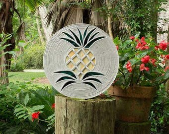 Pretty Pineapple Stepping Stone #539