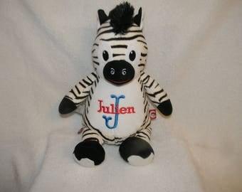 Zebra stuffed animal - Embroidered