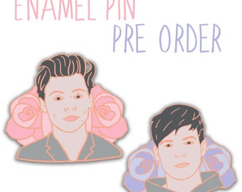 PRE-ORDER - Harry Styles & Louis Tomlinson Pastel Rose Gold Soft Enamel Pin Badge 30mm Fashion Accessories One Direction Pink Lilac
