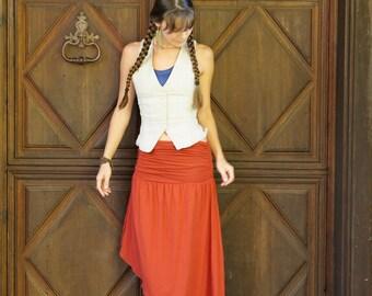 Angle Short / Long Fold Over Skirt