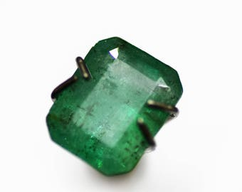 10 % OFF! SALE! 1.20 Ct Natural Emerald 6*7.5 MM Octogan Loose Stone NIAEM112