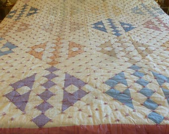 Road to California c. 1930's Tied Quilt - FREE SHIPPING