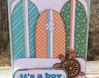 Surfboards Baby Shower Card