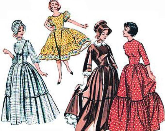 Butterick 9584 Vintage Reproduction Centennial Dress Circa 1960