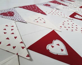 Heart bunting - assorted bunting for Valentine's Day
