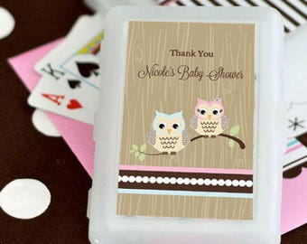 Woodland Owl Personalized Playing Cards, (Set of 24)