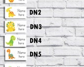 Name labels / Waterproof / personalised school labels / stickers / dinosaur / clothing labels / stick on  / 65  / 1 design only / cute
