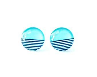 Gift for her - Girlfriend gift - College student gift - Turqouise earrings - Simple earrings - Minimalist earrings - Teal stud earrings -