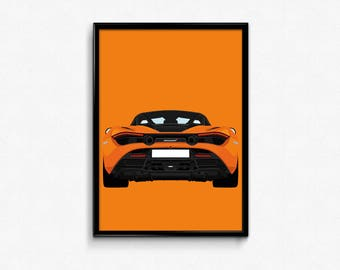 McLaren 720S A3 Print