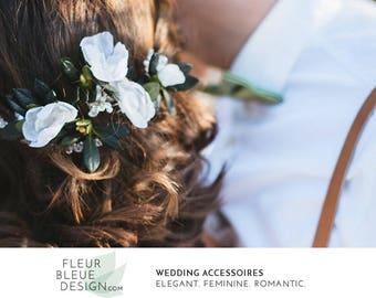 silk flower hair pin set | flower headpiece | bridal hair flower | flower hairpins | bridal flowers | silk headpiece | color selection