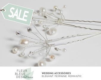 bridal hair pins | hair pins silver | hairpins silver | pearl hair pins | wedding hair accessories | silver hair accessory