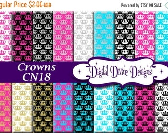 BTS Crowns Digital Scrapbooking  Paper Set - Instant Download
