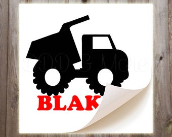 Personalized Dump Truck Vinyl Decal