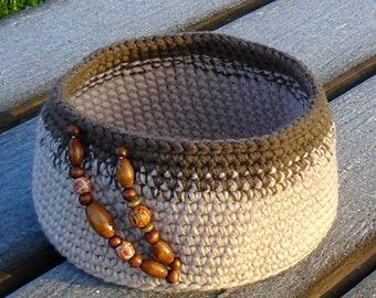 Home decor crochet basket, original gift for home, basket storage, crochet storage, home gift for her, crochet basket, mothers day gift