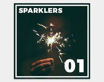 50 Sparkler Photoshop Overlays, Wedding Sparklers, Long Exposure, Freezelight Effect, Shapes