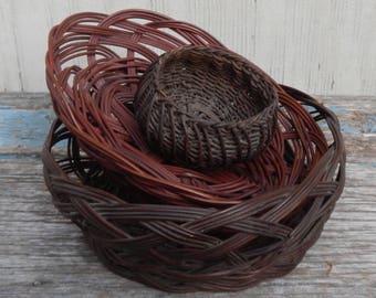 Sweet Set of Vintage Baskets!