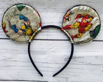 Iron Man Inspired Mouse Ears- Wolverine Inspired Mouse Ears- Ready to Ship