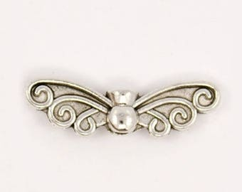 NICKEL free antique silver Butterfly spacer 10