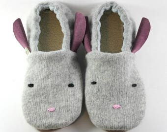 Kids Bunny Slippers- Kids Easter Gift- Natural Slippers- Baby Shoes- Boy Gifts- Kids Slippers- Birthday Gift- Girl Gifts- Little Kids Easter