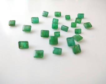 14.95 Cts Natural Emerald Octagon 23 Pcs Lot