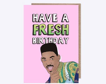 TV Birthday Card | Have A Fresh Birthday | Illustration  | 90's Nostalgia | Unofficial