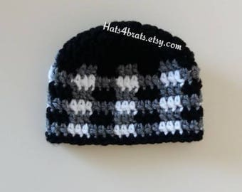 Baby Boy Crochet Hat, Crochet Plaid Hat, Baby Plaid Hat, Newborn Crochet Hat, Infant Crochet Hat, Newborn Hat, Boys Plaid, Boys Crochet Hat