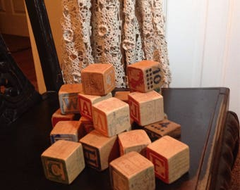 25 Old Wooden Blocks