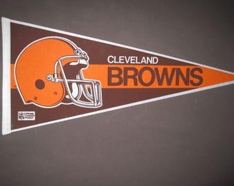 Vintage Cleveland Browns NFL Football Pennant