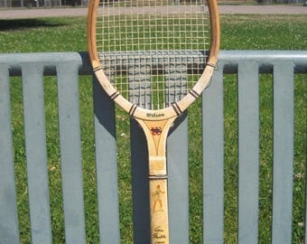 Vintage Alice Marble Signature Model Wilson Wooden Tennis Racquet