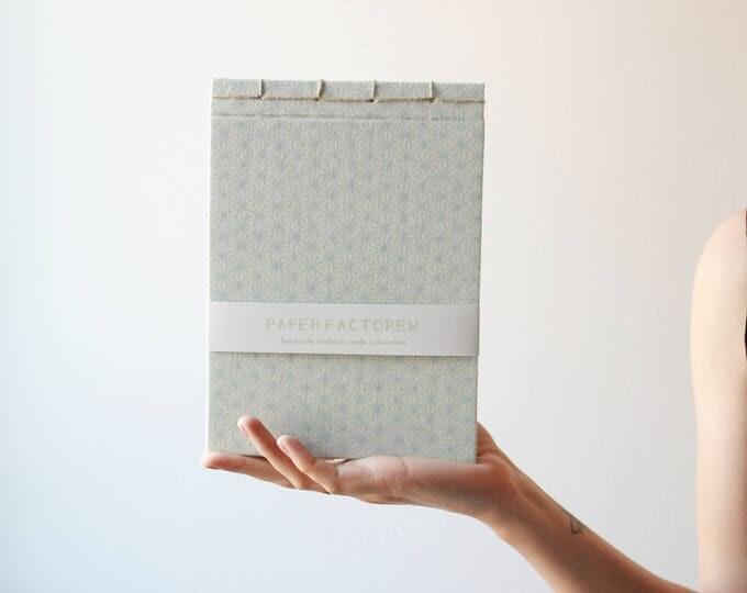 Handmade notebook, japanese bookbinding, traditional japanese pattern notebook, made in barcelona, geometric notebook, minimal notebook