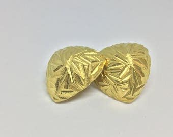Gold plated clip on earrings