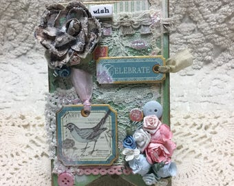 SHABBY CHIC Wish Pennant - Handcrafted