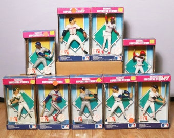 Lot of 9 MLB Baseball Superstar Statues - Clemens Boggs Gibson Canseco Joyner