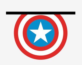 "Wooden shelf ""Captain America"""