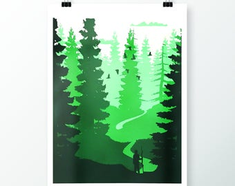 Forest Screen Print