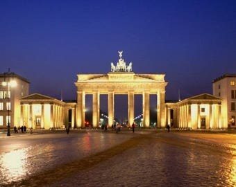 Laminated placemat Brandenburg Gate Berlin Germany