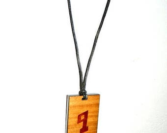 Wooden necklace, letter B theban alphabet