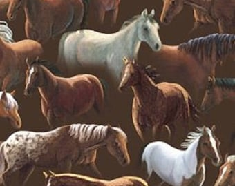 Sundance Packed Horses QT Fabrics         (Quillting Treasures)  #24796-A