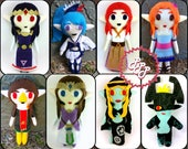 Legend of Zelda Plush Doll Hilda Lana Marin Malon Twilight Princess Medli Midna Imp