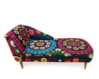 SHAMSI Lounge sofa, ottoman, day bed, bohemian style with suzani, home decor, boho chic