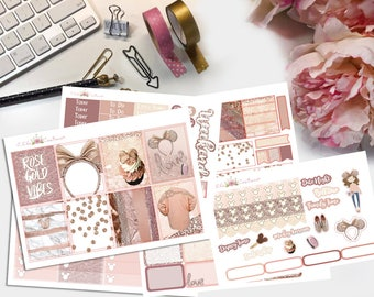 Millenial Rose Planner Stickers Kit by Ella Couture by Jessica