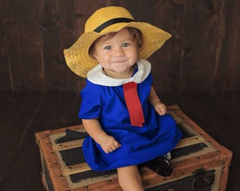 Madeline Dress, Madeline Costume, Madeline dress WITH HAT