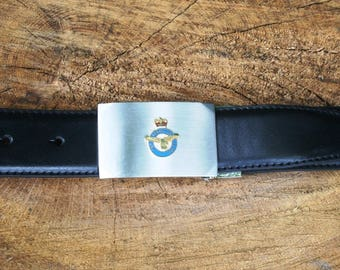 RAF Cut Out Design Belt and Buckle Set Ideal Military Gift ME53
