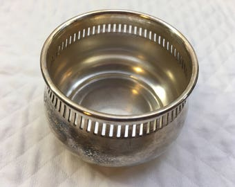 Regis Plate EPNS Tea Strainer Bowl, N1025, Made in England, Silver Plate Bowl, Miniature Silver Bowl