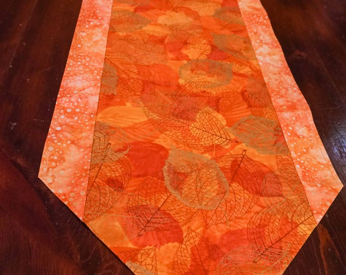 Metallic Gold Table Runner-Rustic Decor-Orange Decor-Dining Room Decor-Table Linen-Boho-Home Decor Gift-Lodge Decor-Watercolor Home Decor