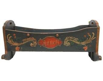 19th Century Pennsylvania Dutch Polychrome Rocking Cradle