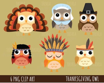 80% SALE THANKSGIVING clipart, FALL/autumn clipart, thanksgivin owls clipart, commercial use, kawaii clipart, fall graphics, cute images